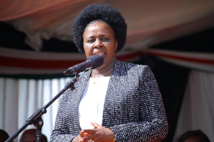 A past photo of former Bomet governor Dr. Joyce Laboso