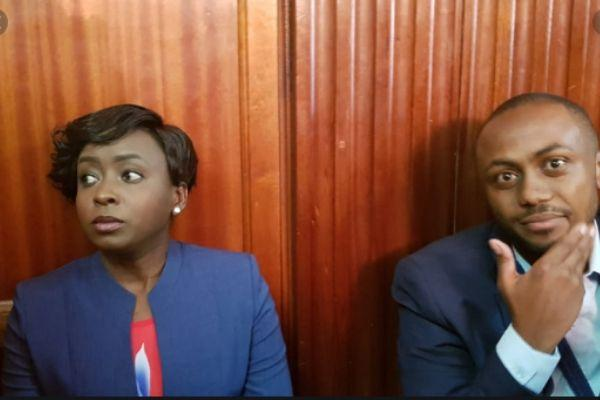 Jacque Maribe and her co-accused Joseph Irungu in court on February, 2, 2019.