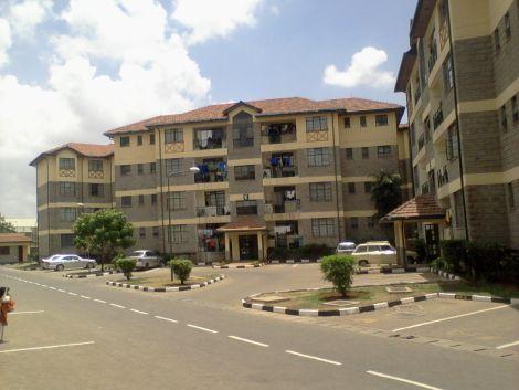 A block of apartments in Nairobi.
