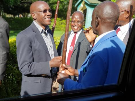 Former Kakamega Senator Boni Khalwale pictured at an event in Shitoli Catholic Church, Kakamega on March 8, 2020