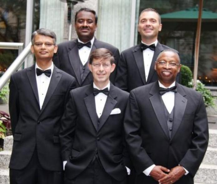 Dr. Njoroge (first from right) lauded as the latest Hero of Chemistry by the American Chemical Society (ACS) in 2012.
