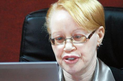 Justice Mumbi Ngugi during a court sitting.