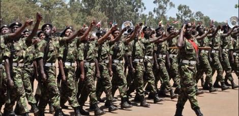 KDF officers during a previous pass-out parade