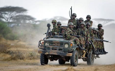 Photo of Kenya Defence Forces (KDF) soldiers in Somalia.