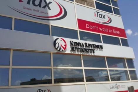 Kenya Revenue Authority signage on a building