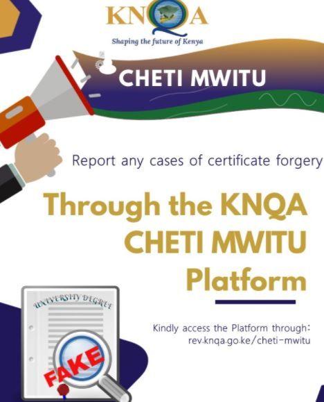 Cheti Mwitu platform