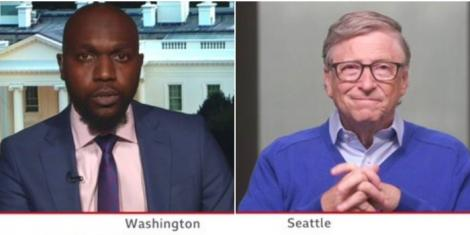 BBC US Correspondent Larry Madowo in an interview with billionaire Bill Gates