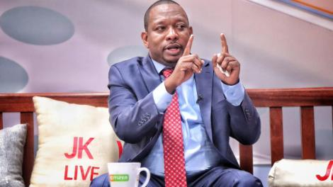 Nairobi Governor Mike Sonko speaking during the JKlive show on March 4, 2020.
