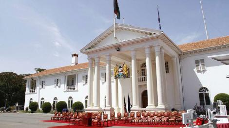 A photo of State House building in Nairobi