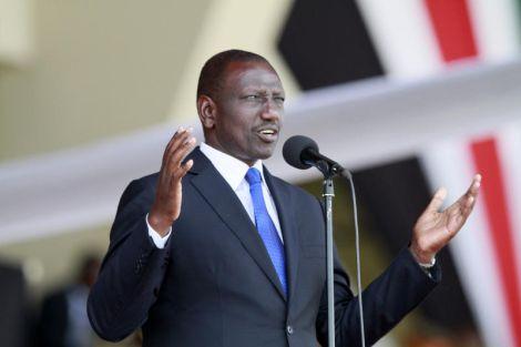 Deputy President William Ruto at Nyayo National Stadium, Nairobi.