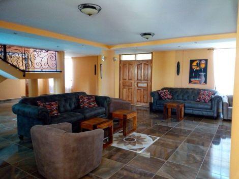 A room inside the Kitui Villa in Kitui county.