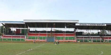 A view of the inside of Afraha Stadium in Nakuru County taken on May 1, 2019.