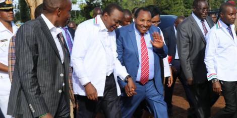 Image result for governor Waititi and uhuru