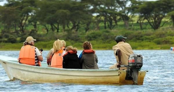 Africa safari Boat ride Lake Nakuru