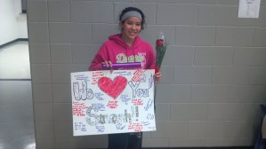 Senior from Girls Track team is recognized