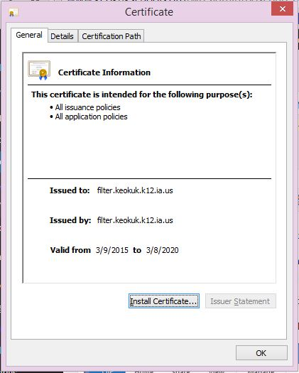 Installing SSL certificates for Internet Explorer and Chrome