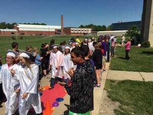 Graduation Procession Begins