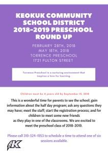 2018-2019 Preschool Round-up
