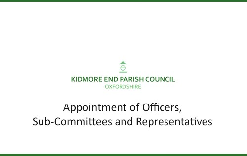 new appointment of councillors kidmore end parish council oxfordshire
