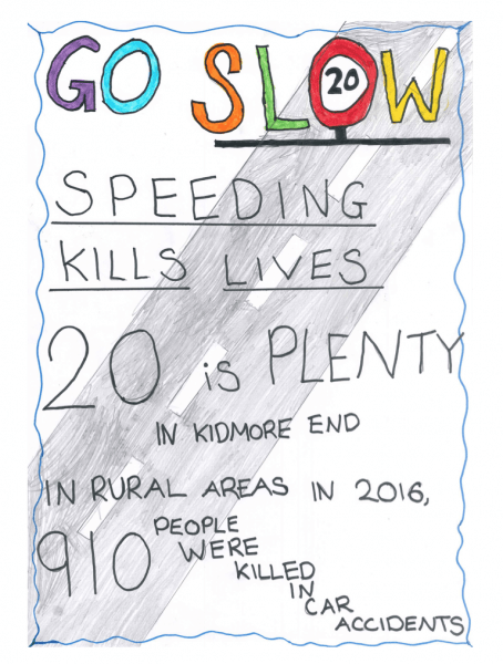 kidmore end school 20mph speed limit poster 3