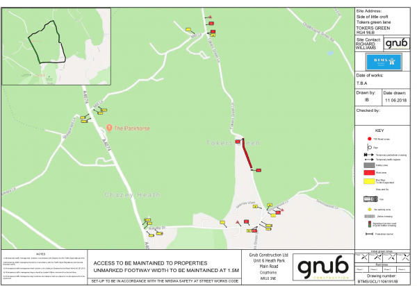 road closure tokers green map sept 2018