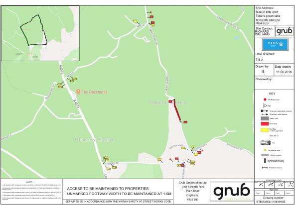 road closure tokers green map sept 2018