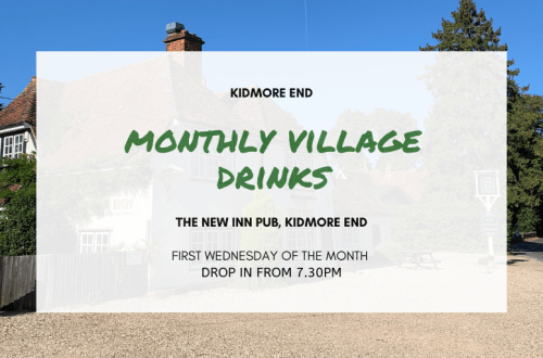MONTHLY VILLAGE DRINKS Kidmore End