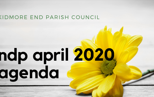 Kidmore End NDP agenda april 2020