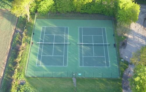Sonning Common Tennis Club ariel shot