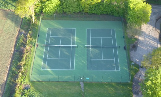 Sonning Common Tennis Club ariel shot