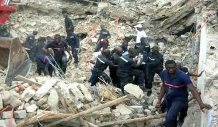 Pikine: Un effondrement d'un immeuble fait un mort