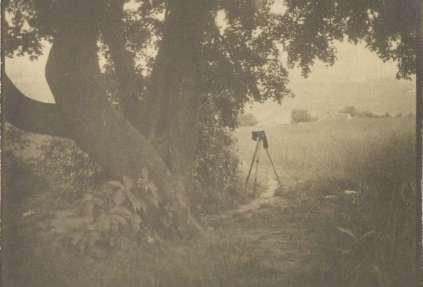 Camera in Landscape - Kertesz