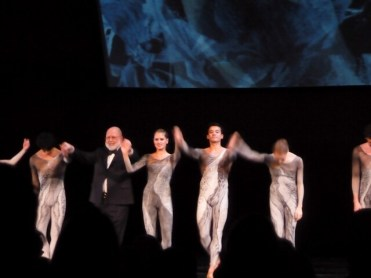 Cemal takes a bow with the dancers