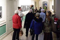 Visitors enjoying the photographs