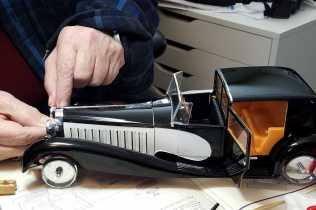 Working on the Bugatti Royale