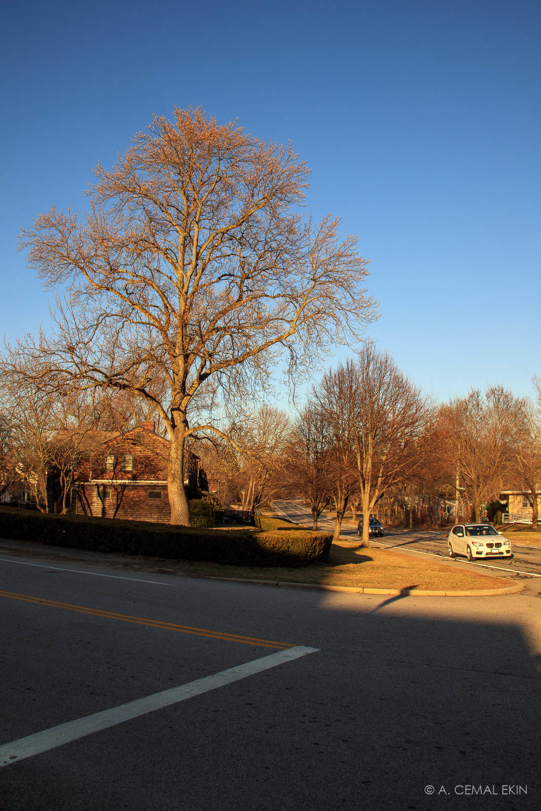 Late afternoon on Narragansett Parkway