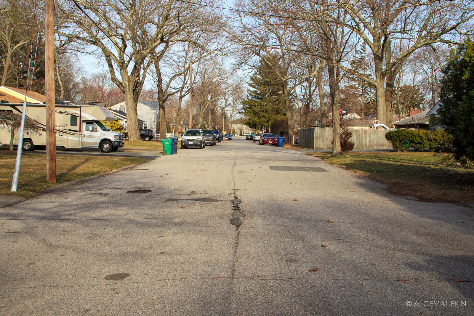One of the streets in our neighborhood, Todd St.