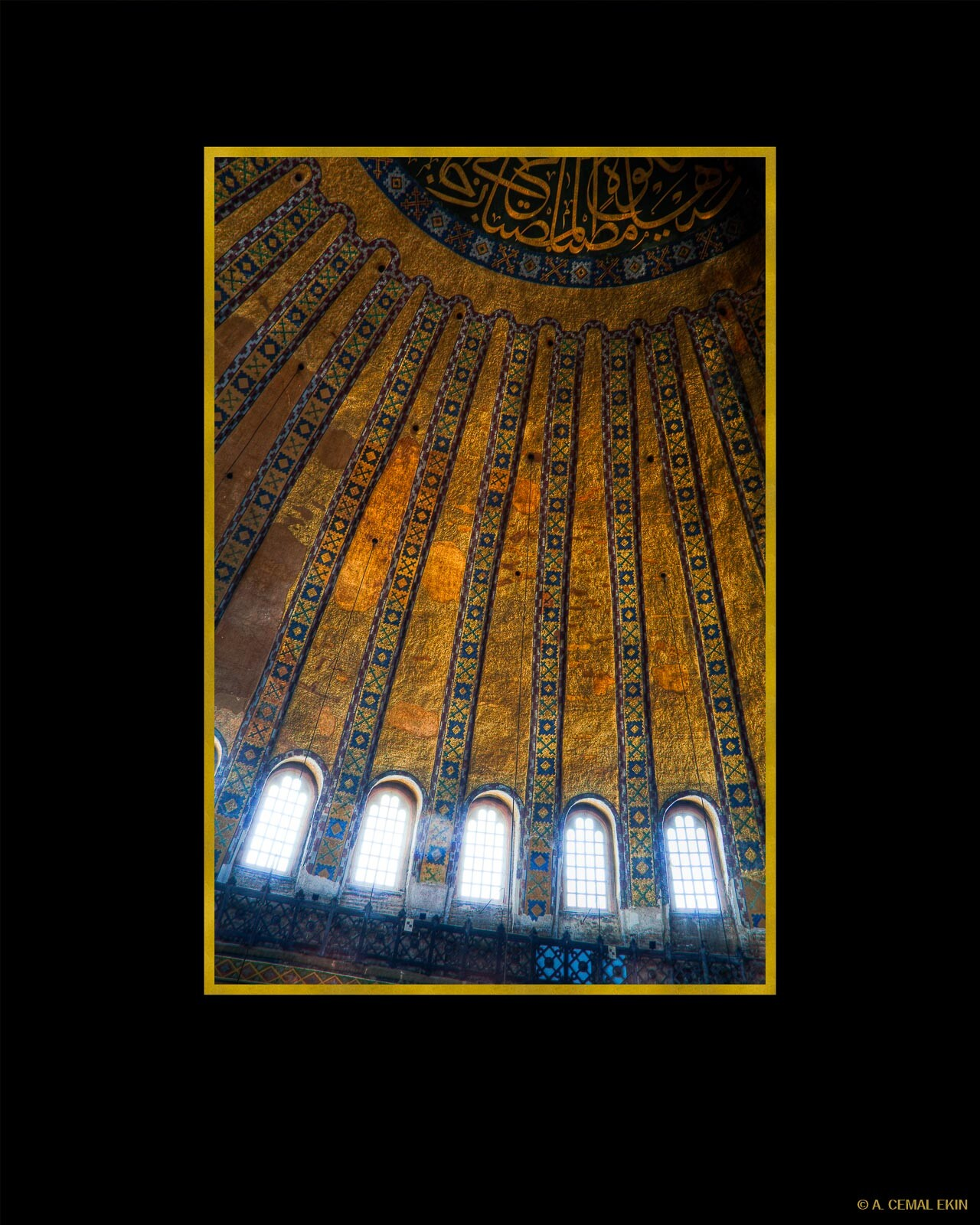 Hagia Sophia, Main dome, dome ribs, windows