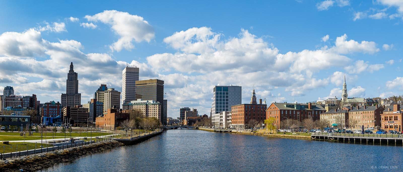 Providence skyline over the river