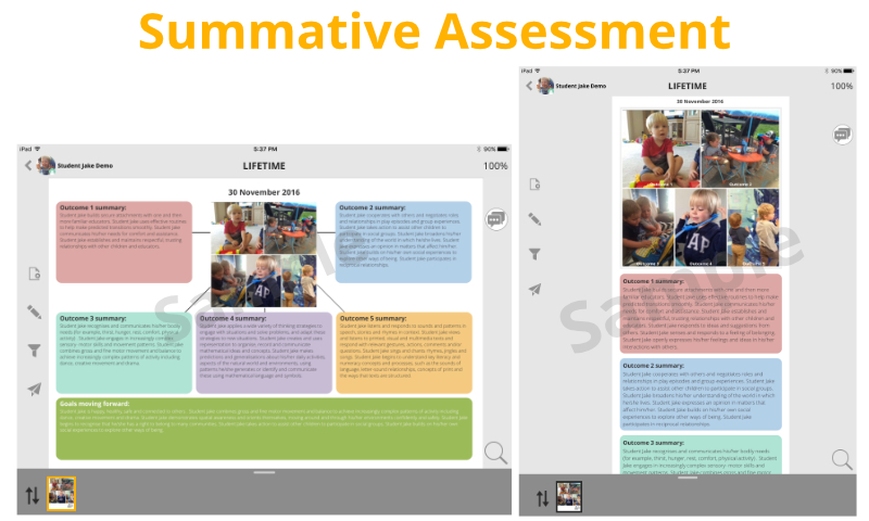 summative assessment template - samples old keptme