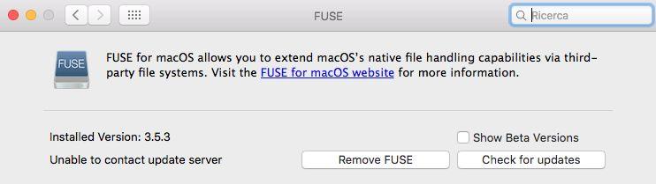 NTFS su Sierra - dettagli Fuse