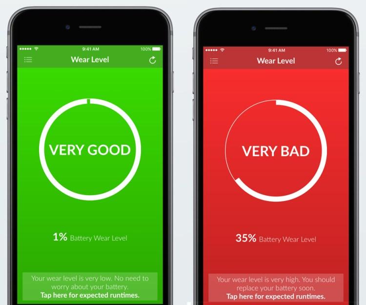 App Battery Life - Livello usura batteria