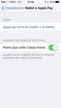 Apple pay - Aggiungi carta 1