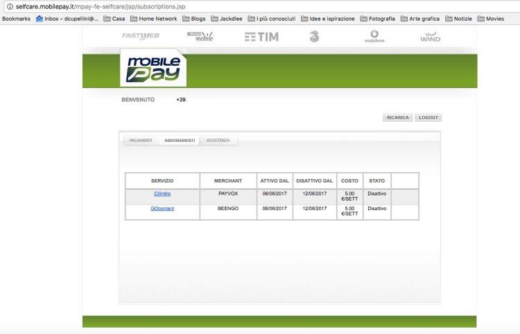 MobilePay - Abbonamenti