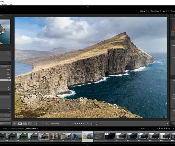 Lightroom - Interfaccia
