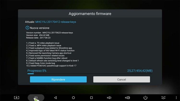 Minix aggiornamento firmware