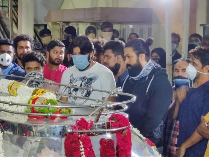 Meghana Raj Husband Chiranjeevi Sarja Funeral Photos 007