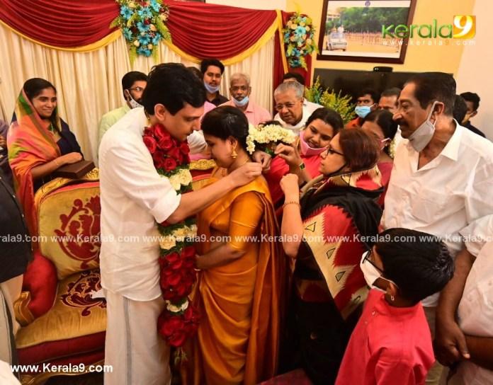 pinarayi vijayan daughter marriage photos 003