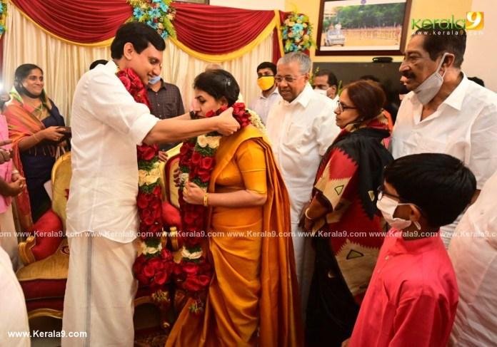 pinarayi vijayan daughter marriage photos 007