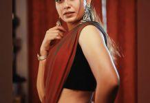anusree new saree photos